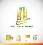 房地产摩天大楼大厦商标象设计 免版税库存图片