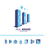 房地产摩天大楼大厦商标象 免版税图库摄影
