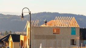 房地产有构筑屋顶1080p的工作者的住宅建设时间间隔电影  影视素材