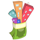 房地产概念例证 免版税库存照片