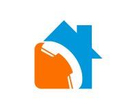 房地产物产和建筑商标为企业公司标志设计 库存照片