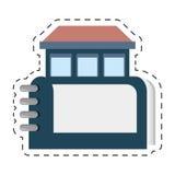 房地产目录书标志插队 库存例证
