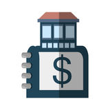 房地产目录编目标志阴影 库存例证