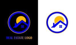 房地产/房子商标设计 创造性的商标设计 免版税图库摄影