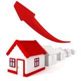 房地产价格图表长大箭头 向量例证