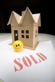 房子一点出售 免版税库存照片