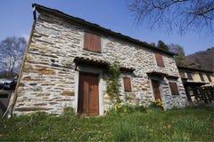 房子一点块做的石头 库存照片