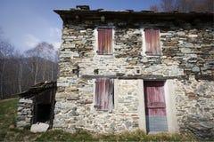 房子一点块做的石头 免版税库存照片