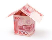房子人民币 免版税库存照片