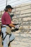 房子人油漆报废 库存照片