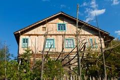 房子传统土耳其村庄 免版税图库摄影