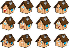 房子例证被设置的向量 免版税库存照片