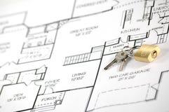 房子保险证券 免版税图库摄影