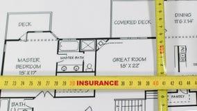 房子保险证券 免版税库存图片