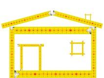 房子做评定的磁带 免版税图库摄影