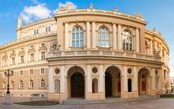 房子傲德萨歌剧全景射击乌克兰 免版税库存图片