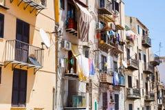 房子典型市政的巴勒莫 库存照片
