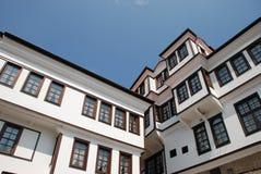 房子典型马其顿的ohrid 免版税库存照片