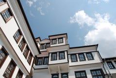 房子典型macedoni的ohrid 库存照片