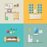 房子内部平的设计  免版税图库摄影