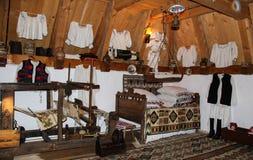 房子内部罗马尼亚传统 图库摄影