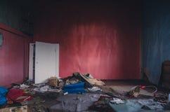 房子内部破坏了 免版税库存图片