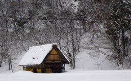 房子农村的日本 免版税库存照片