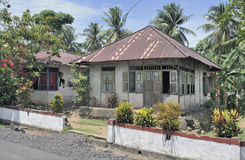 房子印度尼西亚传统 图库摄影