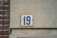 房子号码三十十九19 免版税库存图片