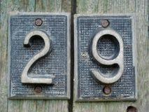 房子号码二十九 库存照片