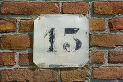 房子号码十三13 免版税库存照片