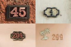 房子号码在哈瓦那旧城#3 免版税库存图片