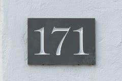 房子号码171标志 免版税图库摄影