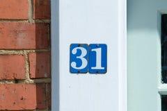 房子号码31标志 库存图片