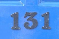 房子号码131标志 免版税库存照片