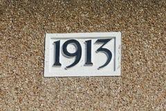房子号码1913标志 库存图片