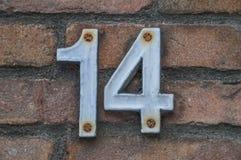 房子号码14 图库摄影