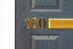 房子号码160 库存照片