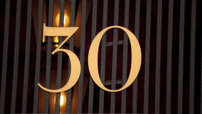 房子号码30 免版税库存照片