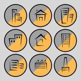 房子和大厦的图片 免版税库存照片