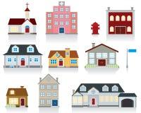 房子图标向量 库存例证
