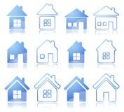 房子图标集 图库摄影