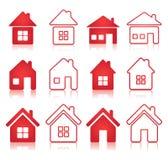 房子图标集 免版税库存图片