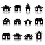 房子图标集 免版税库存照片