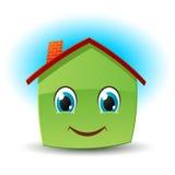 房子图标面带笑容向量 库存图片