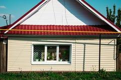 房子在村庄 免版税库存照片