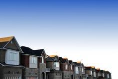 房子城镇 免版税库存照片