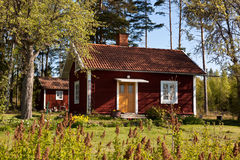 房子夏天瑞典 库存图片