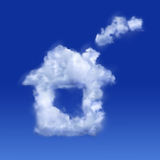 房子天空 库存照片