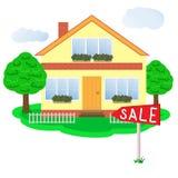 房子好的销售额 库存照片